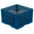 Vollrath PM2110-4 Traex Royal Blue 21 Compartment Plate Rack - 8 3/4