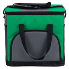Choice 11 1/2 inch x 8 inch x 11 1/2 inch Green Soft-Sided 24 Can Insulated Cooler / Hot or Cold Sandwich Bag with Adjustable Shoulder Strap