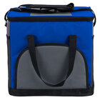 Choice 11 1/2 inch x 8 inch x 11 1/2 inch Blue Soft-Sided 24 Can Insulated Cooler / Hot or Cold Sandwich Bag with Adjustable Shoulder Strap