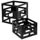 Eastern Tabletop 1740B 2-Piece Black Matte Finish Aluminum Cube Nesting Riser Set