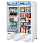 Turbo Air TGM-50RS White 56 inch Two Glass Door Refrigerator - 50 Cu. Ft.