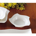 CAC STA-120 Fashionware 40 oz. Bone White Five Star Porcelain Pasta Bowl - 12/Case