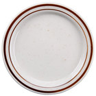 Brown Speckle Narrow Rim 5 1/2 inch China Plate   - 36/Case