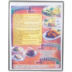 Menu Solutions H500C SILVR Hamilton 8 1/2 inch x 11 inch Single Panel / Two View Silver Heat Sealed Menu Board