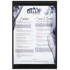 Menu Solutions K22B BLACK K22-Kent 5 1/2 inch x 11 inch Single Panel / Double-Sided Black Menu Board