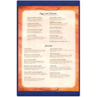 Menu Solutions K22G BLUE K22-Kent 11 inch x 17 inch Single Panel / Double-Sided Blue Menu Board