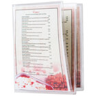 Menu Solutions CHS600C 8 1/2 inch x 14 inch Triple Panel Booklet / Six View Clear Heat Sealed Menu Cover - 12/Pack