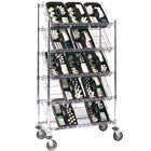 Metro DC16EC 24 inch x 18 inch Five Slanted Shelf Merchandiser / Dispenser Rack