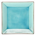 CAC 666-5-BLU Japanese Style 5 inch Square China Plate - Black Non-Glare Glaze / Lake Water Blue - 36 / Case