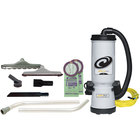 ProTeam 105892 MegaVac 10 Qt. Backpack Vacuum / Blower with Attachment Kit A