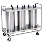 Lakeside 7300 Stainless Steel Open Base Non-Heated Three Stack Plate Dispenser for up to 5 inch Plates