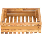 American Metalcraft OWBB2 6 inch x 8 inch Olive Wood Bread Crate