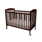 L.A. Baby CS-983 28 inch x 52 inch Cherry Wood Folding Crib