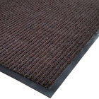 Cactus Mat 1485M-B46 4' x 6' Brown Needle Rib Carpet Mat - 3/8