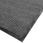 Cactus Mat 1485M-E23 2' x 3' Gray Needle Rib Carpet Mat - 3/8