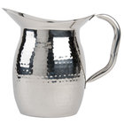American Metalcraft HMWP64 2 Qt. Hammered Finish Bell Pitcher