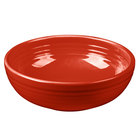Homer Laughlin 1458326 Fiesta Scarlet 38 oz. Medium Bistro Bowl - 6 / Case