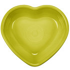 Homer Laughlin 747332 Fiesta Lemongrass 9 oz. Heart Bowl - 4/Case