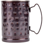 World Tableware MM-200 14 oz. Moscow Mule Cup with Hammered Antiqued Copper Finish   - 12/Case
