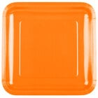 Creative Converting 463282 9 inch Sunkissed Orange Square Paper Plate - 18 / Pack