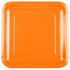 Creative Converting 463282 9 inch Sunkissed Orange Square Paper Plate - 18/Pack