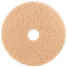 3M 3400 18 inch Tan Burnishing Pad - 5/Case
