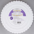 Wilton 302-10 Decorator Preferred Round Scalloped Edge Cake Separator Plate - 10 inch