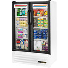 True GDM-36SL-LD Slim Line White Glass Swing Door Merchandiser Refrigerator with LED Lighting