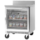 Beverage-Air WTF24A-25-LED 24'' Single Glass Door Worktop Freezer - 7 cu. ft.