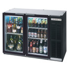 Beverage-Air BB48GY-1-B-27-PT 48 inch Black Glass Door Pass-Through Back Bar Refrigerator with 2 inch Stainless Steel Top