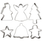 Ateco 4842 6-Piece Stainless Steel Christmas Cookie Cutter Set (August Thomsen)