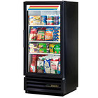 True GDM-10-HC-LD Black Glass Door Refrigerated Merchandiser with LED Lighting - 10 cu. ft.