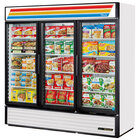 True GDM-72F-HC-LD White Glass Door Merchandiser Freezer with LED Lighting