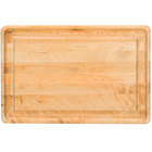 Tablecraft CBW241615 Wood Cutting Board with Well - 24