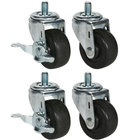 Beverage Air 00C31-041A Equivalent 3 inch Replacement Casters - 4/Set