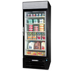Beverage-Air MMR23-1-B-EL-LED MarketMax 27 inch Black One Section Glass Door Merchandiser Refrigerator with Electronic Lock - 23 cu. ft.