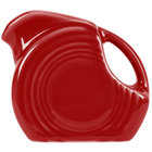 Homer Laughlin 475326 Fiesta Scarlet 4.75 oz. Mini Disc Creamer Pitcher - 4/Case