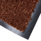 Cactus Mat 1437M-CB31 Catalina Standard-Duty 3' x 10' Chocolate Brown Olefin Carpet Entrance Floor Mat - 5/16 inch Thick