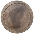 Lodge U8RP 11 3/8 inch Round Walnut Stain Wood Underliner