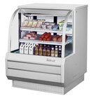Turbo Air TCDD-48-2-H 48 inch White Curved Glass Refrigerated Deli Case - 13.9 cu. ft.