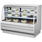 Turbo Air TCGB-60-2 White 60 1/2 inch Curved Glass Refrigerated Bakery Display Case - 18.7 Cu. Ft.