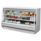 Turbo Air TCDD-96-4-H 96 inch White Curved Glass Refrigerated Deli Case - 28.8 cu. ft.