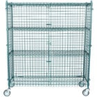 Regency NSF Mobile Green Wire Security Cage Kit - 18