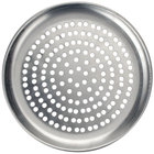 American Metalcraft CTP7P 7 inch Perforated Coupe Pizza Pan - Standard Weight Aluminum