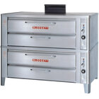Blodgett 911 Natural Gas Compact Double Deck Oven with Draft Diverter - 54,000 BTU