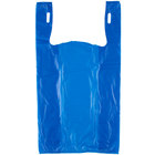 1/6 Size .51 Mil Blue Unprinted Embossed T-Shirt Bag - 1000/Case