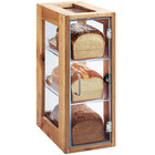 Cal-Mil 1204-99 Madera 3 Tier Reclaimed Wood Bread Display Case - 13