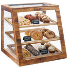 Cal-Mil 3432-99 Madera Reclaimed Wood 3 Tier Slanted Bakery Case - 21