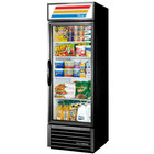"True GDM-19T-HC~TSL01 27"" Black Glass Door Merchandiser with LED Lighting - 19 Cu. Ft."