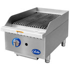 Globe GCB15G-CR 15 inch Gas Charbroiler with Cast Iron Radiants - 40,000 BTU